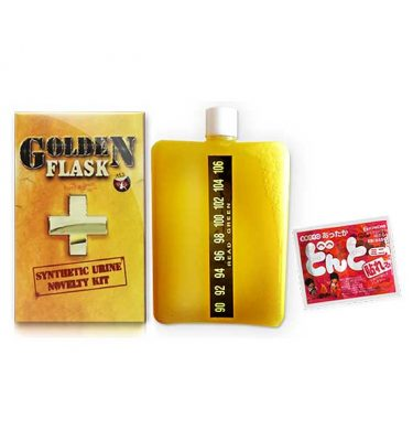 Golden Flask Synthetic Urine Bottle
