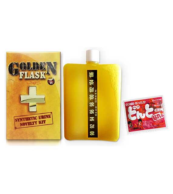 Golden Flask Synthetic Urine Bottle
